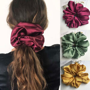 Large Size Satin Hair Rope Oversized Stain Hair Scrunchies Elastic Rubber Bands