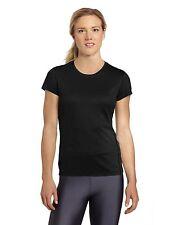Asics Womens Core ss short sleeve Shirt Top Fitness Training Running black sz L