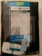 "interDesign York Shower Curtain in Navy 20587 Rust proof gromlets 72""x72"""