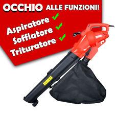 Soffiatore Aspiratore Aspirafoglie Elettrico ALISEO E Potenza 2500 W 270KM/H