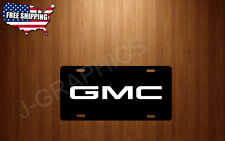 GMC Vehicle License Plate Auto Tag BLACK Plate Truck Sierra