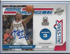 BRANDON JENNINGS 2010-11 PANINI SEASON UPDATE ROOKIE CHALLENGE ALL STAR AUTO /49