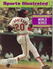 1971 Sports Illustrated magazine,Baseball, Frank Robinson, Baltimore Orioles INK