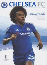 Chelsea v maccabi tel-aviv champions league 2015/16 mint programme