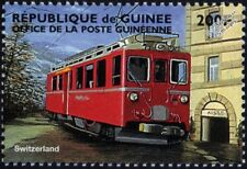 Swiss / Switzerland Red Electric Street Tram / Trolley Car / Train Stamp