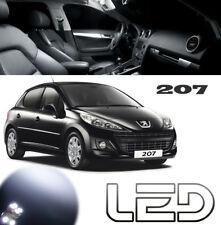 Peugeot 207 Kit 9 Ampoules LED Blanc habitacle plafonnier Veilleuses Plaque