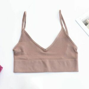Sexy Seamless Crop Top Cami Bra Streetwear Sport Workout Fitness Wear For Women