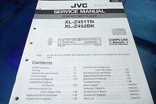 Servicio Manual de instrucciones para JVC xl-z451TN, xl-z452 bk, original