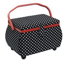 Prym cesta de costura lunares negro/blanco 32 X 20 5 20cm caja 612246