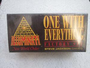 """FACTORY SET 450  1995 """"One With Everything"""" Illuminati INWO Card Game NUKE"""