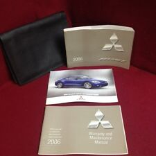 2006 Mitsubishi Eclipse Owners Manual with warranty manual and case