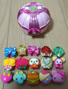 Glitter force Smile Precure Girls Toy Set Pact Compact decor Charm Pretty Cure