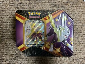 Pokemon Shining Fates Tin! Boltund V! Factory Sealed In Hand! 6 booster packs
