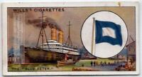 The Blue Peter Flag Signals A Ship Is Leaving Port  80+  Y/O Ad Trade Card