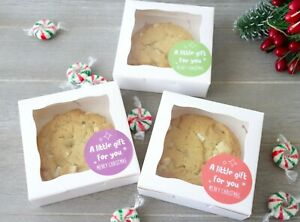12/24/36 White Christmas Cookies Boxes 10cm XMAS Chocolate Gift Display Box