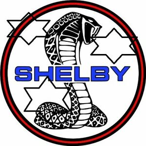 VINTAGE SHELBY FORD DECAL STICKER LABEL LARGE 9.5 INCH DIA 240 MM HOT ROD