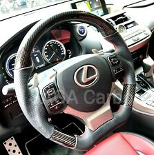 Fits Lexus RC RCF Real Carbon Fiber/Nappa Leather Steering Wheel RCFRC200t RC350