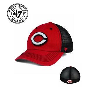 Cincinnati Reds MLB '47 Brand Taylor Closer Cap Hat Mesh Men's Baseball S/M NEW