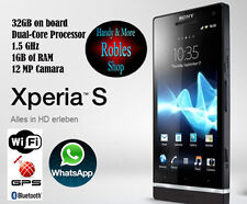 Sony Xperia S 32GB Black (Simlock Frei) WLAN 3G GPS 12MP Android 4,1 GUT OVP