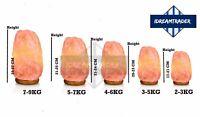 Himalayan Pink Crystal Salt Lamps Air Purifier Therapeutic Ionizer Lamp