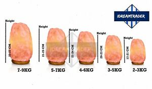 Himalayan Pink Crystal Salt Lamps Air Purifier Therapeutic Ionizer Lamp