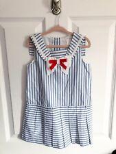 Nwt Janie and Jack Striped Sailor Dress Size 3