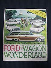 Original 1962 62 Ford Falcon Thunderbird of Wagon Wonderland Sales Brochure