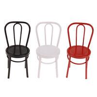 Puppenhaus 1/6 1/12 Eisenstuhl Modell für Puppenhausmöbel Stuhl Spielzeug Fad  X