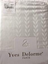 Yves Delorme ANTIQUE BLANC JACQUARD SATIN Duvet Cover Set KING