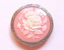 Vintage Russian 875 silver rose-motif compact