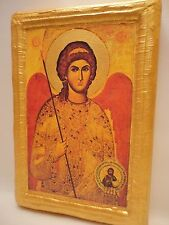 Saint Michael Byzantine Greek Cypriot Orthodox Religious Icon Ancestry Plaque