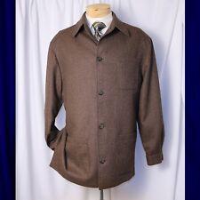 PAUL FREDRICK  Brown and Ivory Herringbone Country Heritage Men Coat Jacket