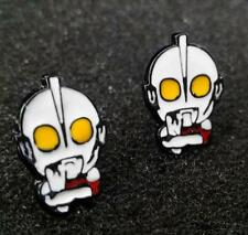 Ultraman super man metal earring ear stud earrings studs one pair new