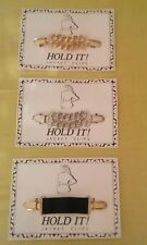Hold It Clips For Sweater Dress Jacket Gold Silver Black 3 Styles Available