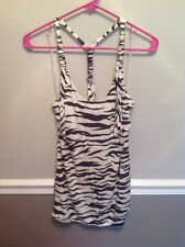 Forever 21 Zebra Print Halter Top New With Tags