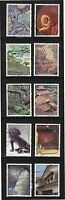 JAPAN 2008 WORLD HERITAGE 3RD SERIES ISSUE 4 IWAMI GINZAN COMP. SET OF 10 STAMPS