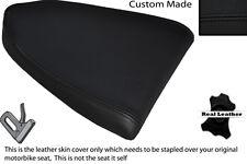 BLACK STITCH CUSTOM FITS APRILIA RSV RSVR 1000 04-08 REAR LEATHER SEAT COVER