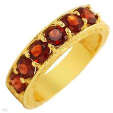 2.0 cwt.Garnet 6 Stone Ring-Size 6 -Gold Plated - $139