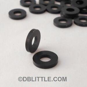 "(100) PREMIUM Black Nylon #10 Washers for Screws & 3/16"" fasteners 6/6 Polyamide"