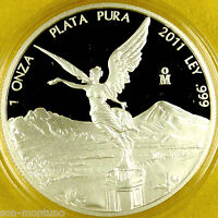 NOT PERFECT COIN - 2011 Mexico - LIBERTAD PROOF 1 Troy Ounce .999 Silver Bullion