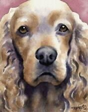 COCKER SPANIEL Painting Dog ART 11 X 14 Signed DJR