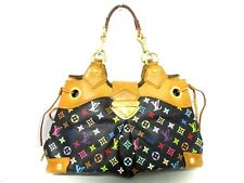 Authentic LOUIS VUITTON Monogram Multicolore Ursula M40124 Noir Shoulder Bag