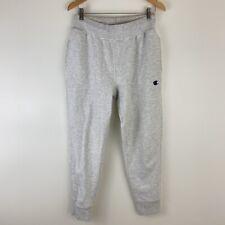 Mens Champion Reverse Weave Gray Jogger Sweatpants Drawstring Waist Size M