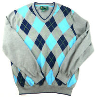 Brooks Brothers Men's Argyle Sweater St Andrews Links 100% Supima Cotton L Large