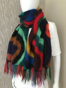 PAUL SMITH DREAMER STRIPE SCARF MOHAIR BLEND MADE IN ITALY BNWT