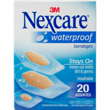 Nexcare Bandages CLEAR WATERPROOF Assorted Sizes 20ct (3 pack )***