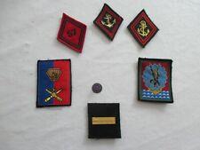 lot de 7 unités   insignes tissu patch  boutonnière palme académique très divers