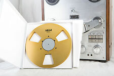 "New!  AKAI gold 10.5"" inch Metal Reel for 1/4"" tape- Mint Condition"