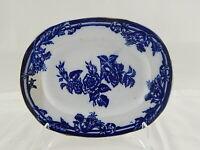 ANTICA RARA RAVIERA VASSOIO CERAMICA RICHARD MILANO FINE 1800 AURORA FLOW BLUE