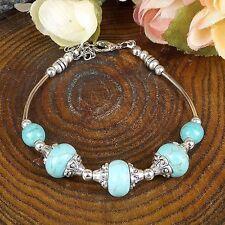 Vintage Tibetan Silve bangle silver Beads Bohemian Jade Turquoise bracelets